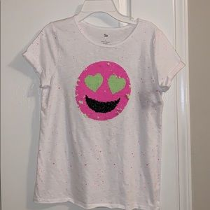 SO tee with sequin graphic